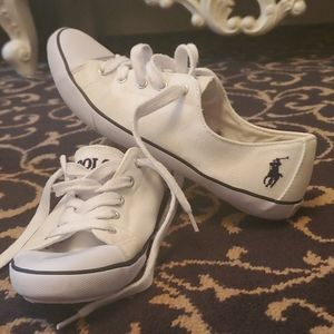 POLO Ralph Lauren white and navy Canvas Shoes